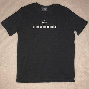 Under Armour Wounded Warrior Heat Gear Gray Large